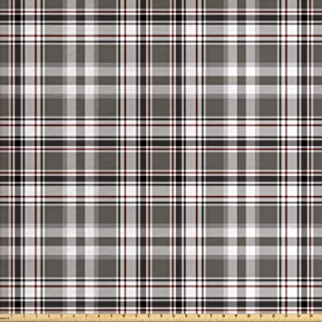 Amazon Com Lunarable Plaid Fabric By The Yard Classic English