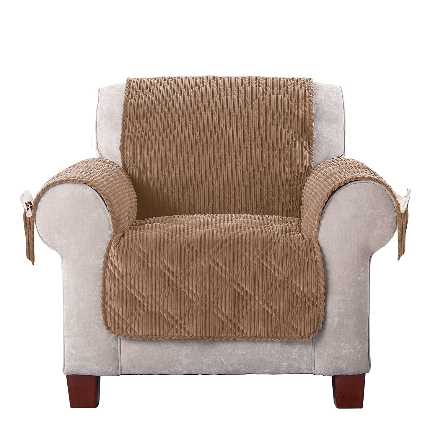 Sure Fit Wide Whale Chair, Furniture Cover, Cream SF43726