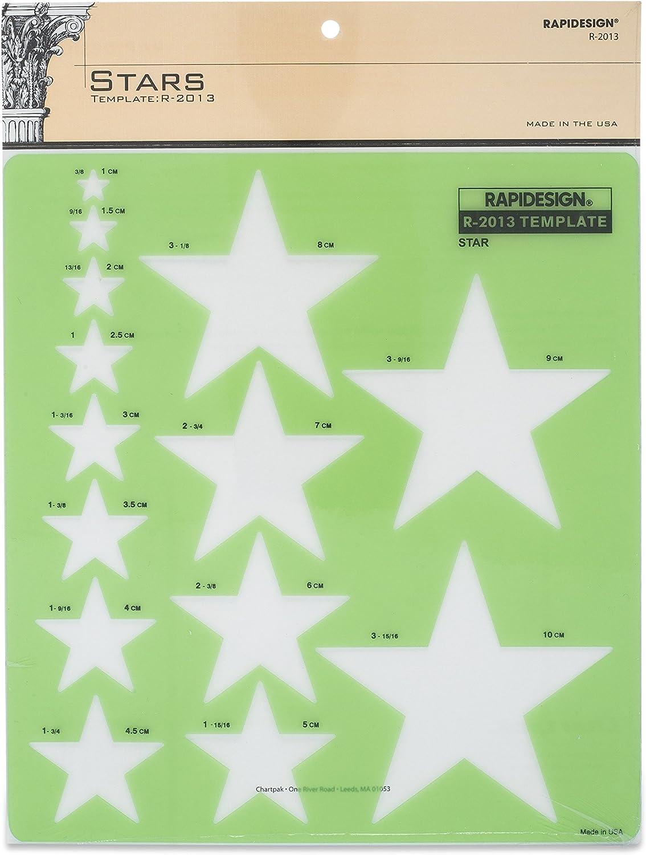 Rapidesign Stars Template, 1 Each (R2013)