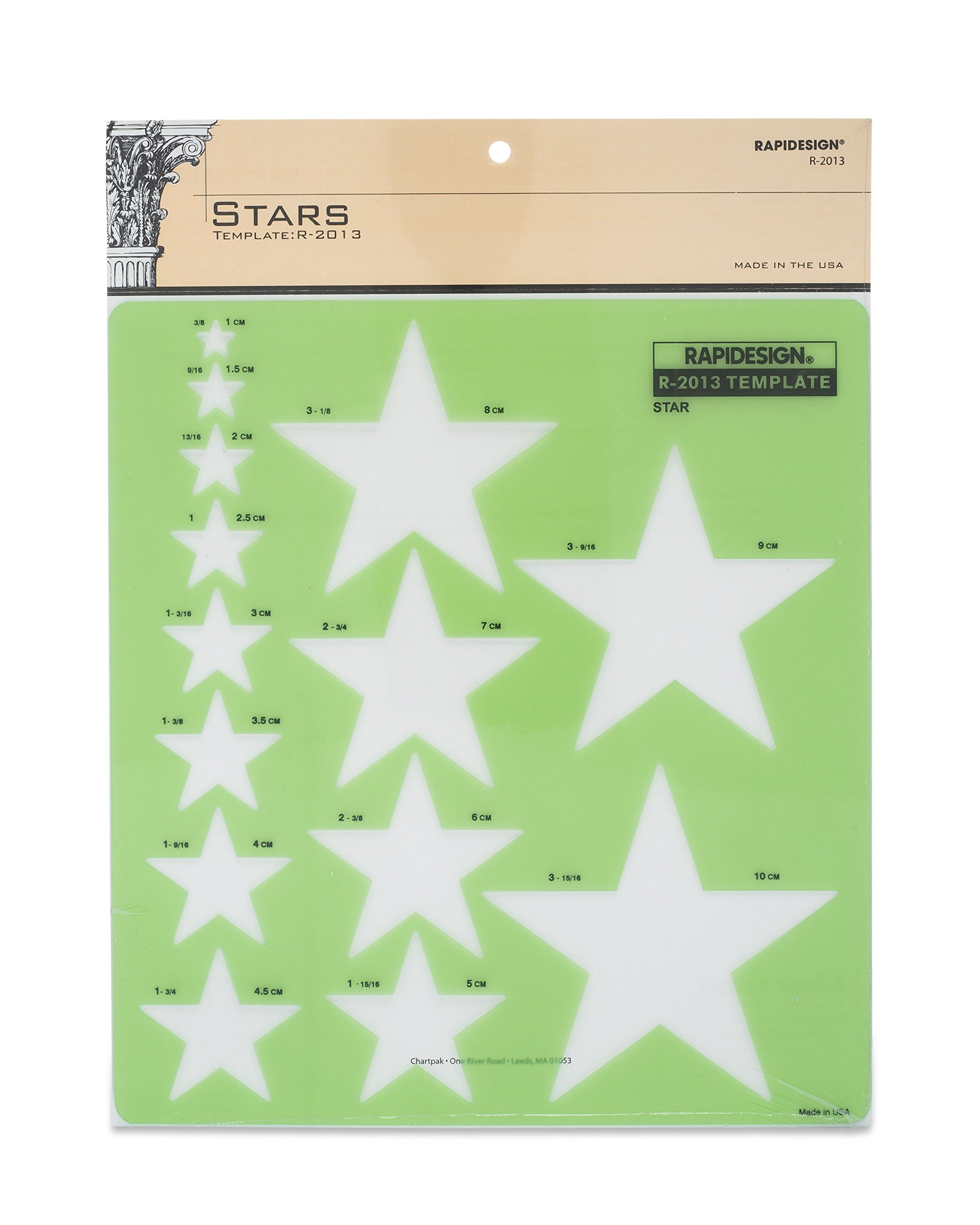 Rapidesign Stars Template, 1 Each (R2013) by RAPIDESIGN