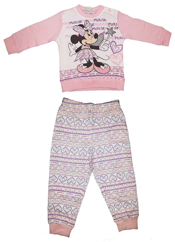 pigiama neonata manica lunga cotone leggero MINNIE art. WD101127 nuova collezione rosa