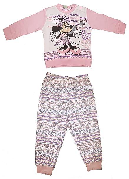 disney - Pijamas enteros - para bebé niña Rosa 18 meses