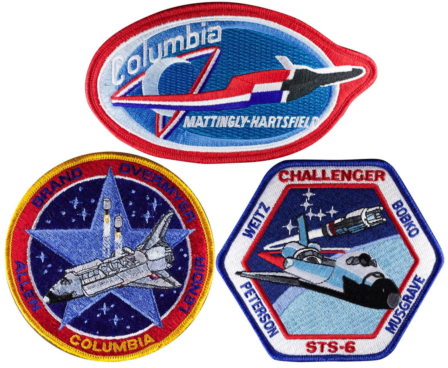 Patch Set Space Shuttle Mission STS 4 STS 5 STS 6 Official NASA