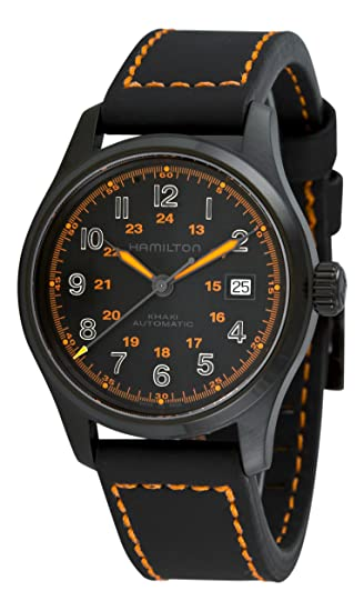 064490344 Hamilton Men's H70585737 Khaki Field Black Day Date Dial Watch: Hamilton:  Amazon.ca: Watches