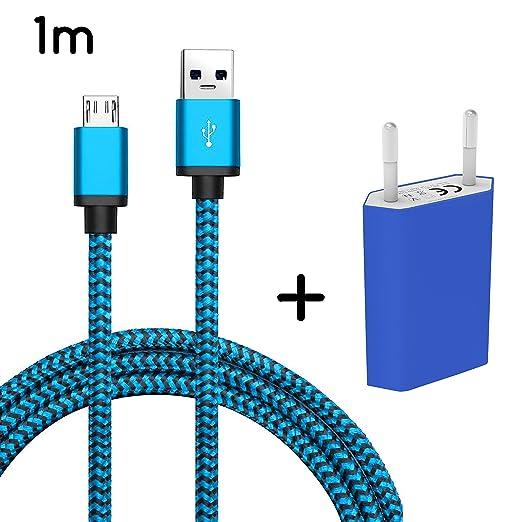 2 opinioni per 26-Micro USB + adattatore blu 1m Blau + Netzteil Nokia Lumia 930