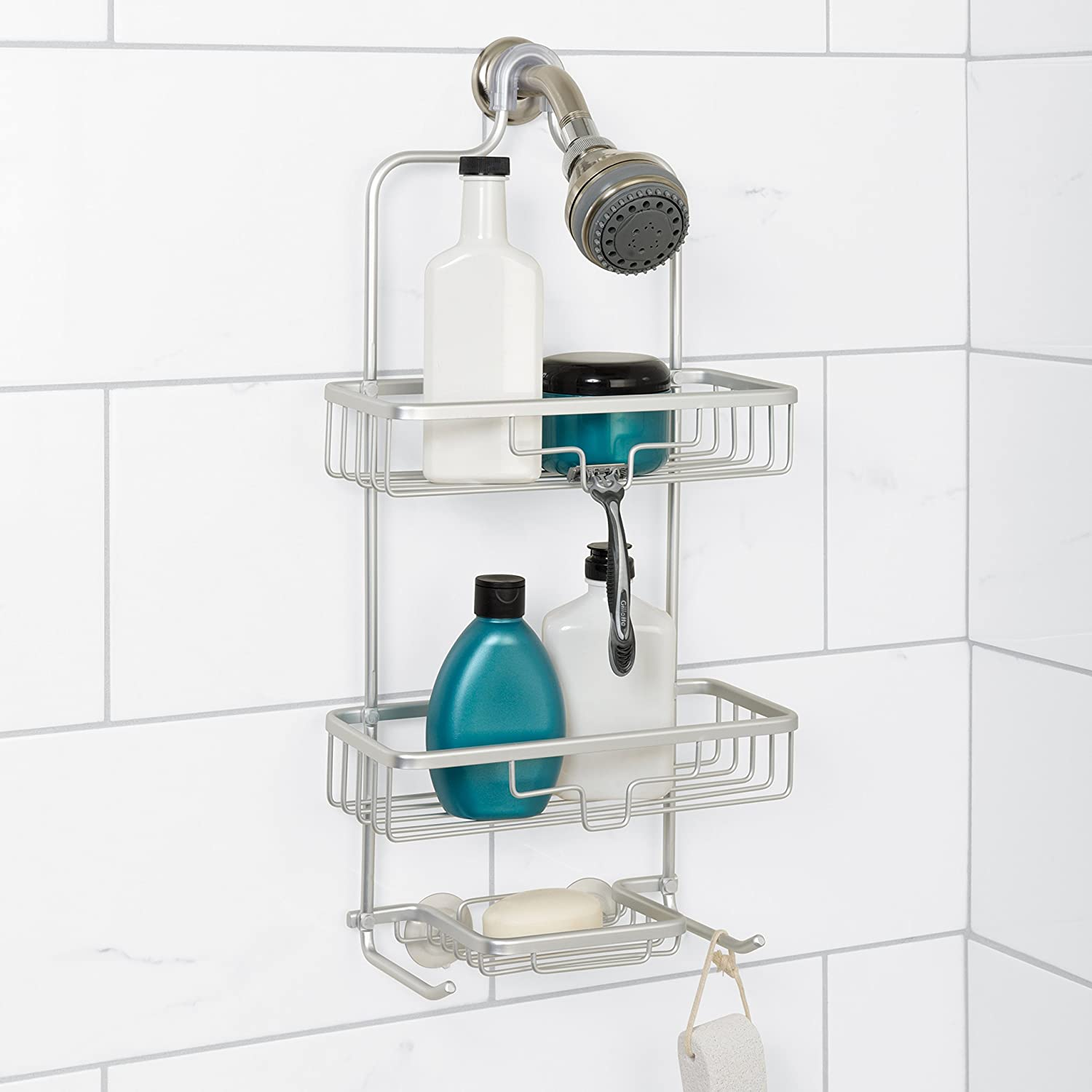 simple shelves as etc for bath conditioner such storing shampoo practical built soap in of supplies way shower hair the