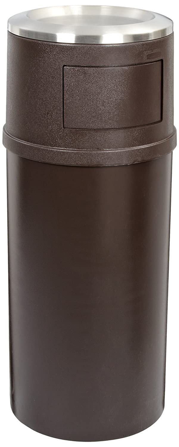 Rubbermaid Commercial FG818088BRN 25-gallon Classic Ash/Trash Container with Doors, Brown