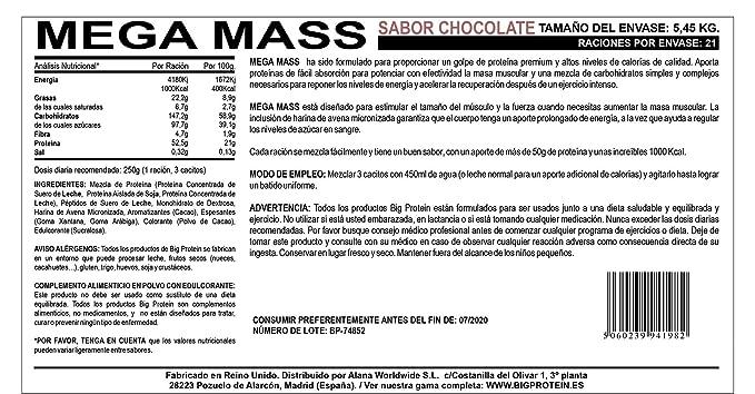 proteinas y carbohidratos para aumentar masa muscular