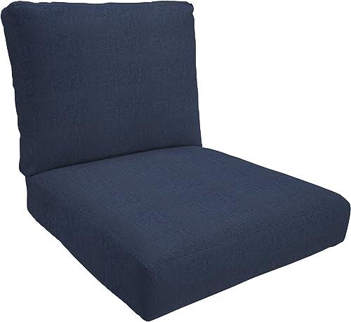 Eddie Bauer Home Deep Seating Lounge Double Piped, Medium, Spectrum Indigo