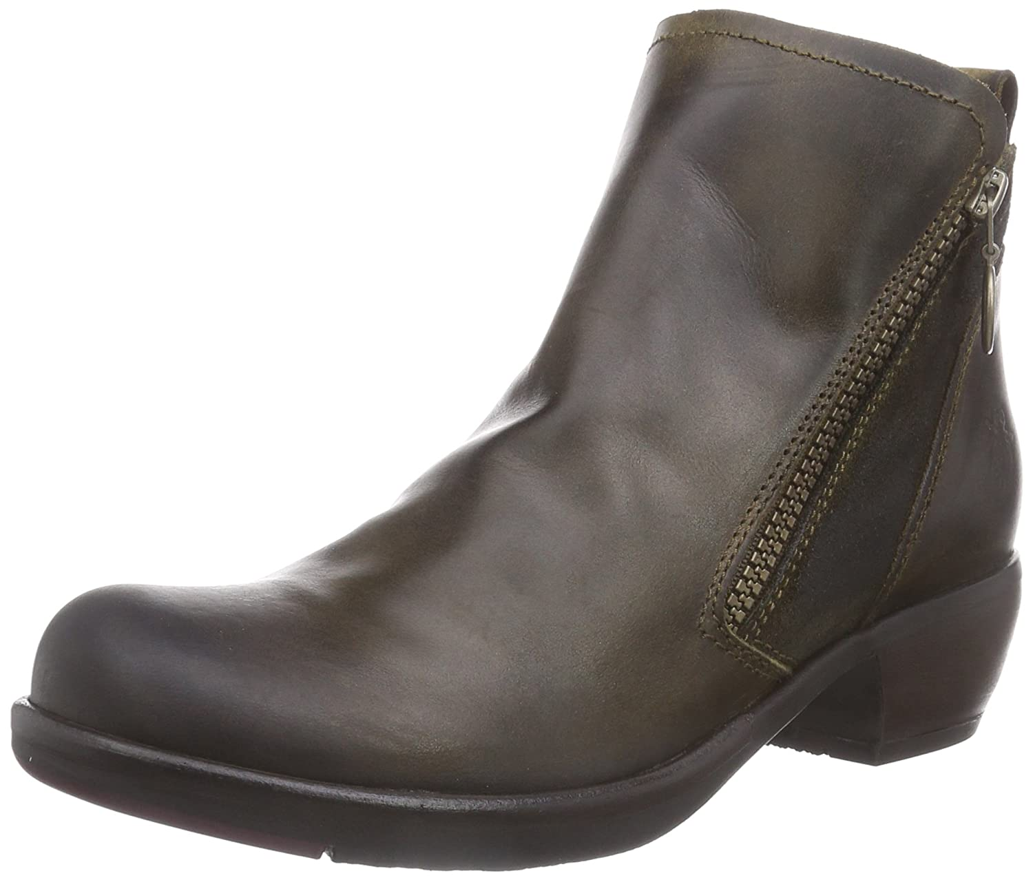 FLY London Women's Meli Boot B00UK9O11K 38 EU/7.5-8 M US|Olive