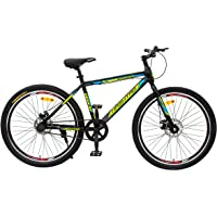 Geekay Single Speed Mountain Bicycle 24, 27.5 & 29 inch Wheel Hashtag Bike | Non Gear Cycle for Adults Sports Light Weight MTB Bike