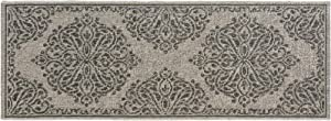 Gertmenian Space Outdoor Rug Classic Luxury Patio Carpet Carved Medallion Light Gray 2x6 Runner