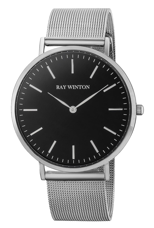 Ray Winton Herren-Armbanduhr Analog schwarz Zifferblatt