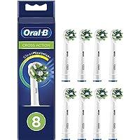 Oral-B CrossAction Cabezales de Recambio Tamaño Buzón, Pack de 8 Recambios Originales con Tecnología CleanMaximiser para…
