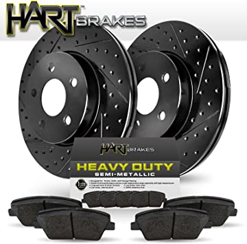 For 2006-2010 Hummer H3 H3T Hart Brakes Rear Semi-Metallic Brake Pads