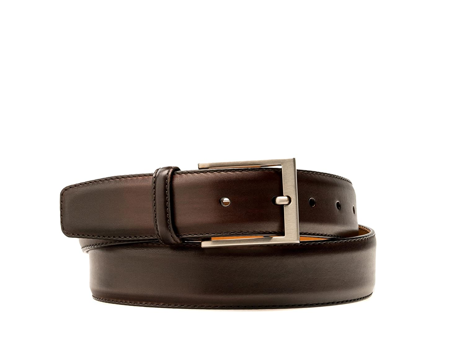 Magnanni Boltiarcade Midbrown Men's Leather Belt