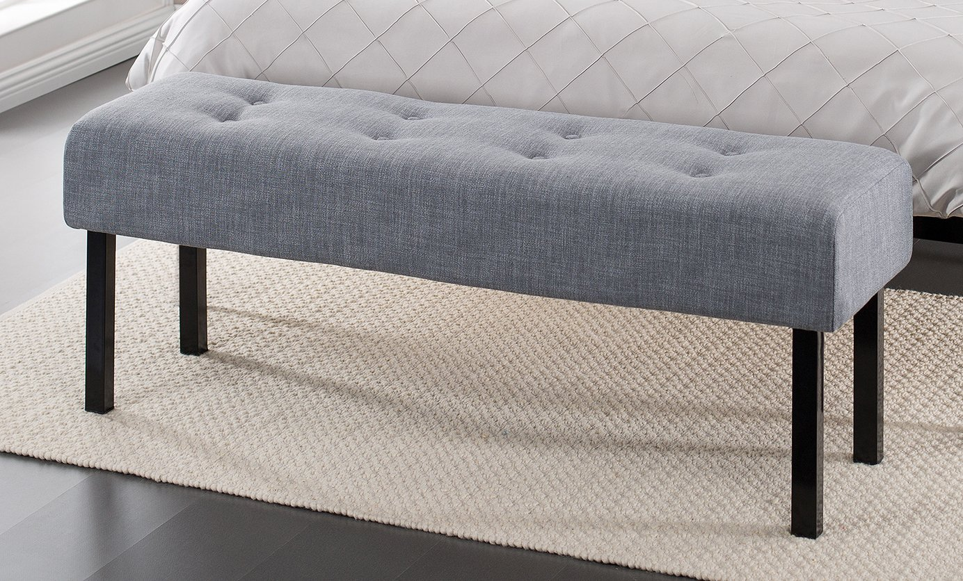 upholstered bedroom bench, sitting pretty: bedroom benches room ...