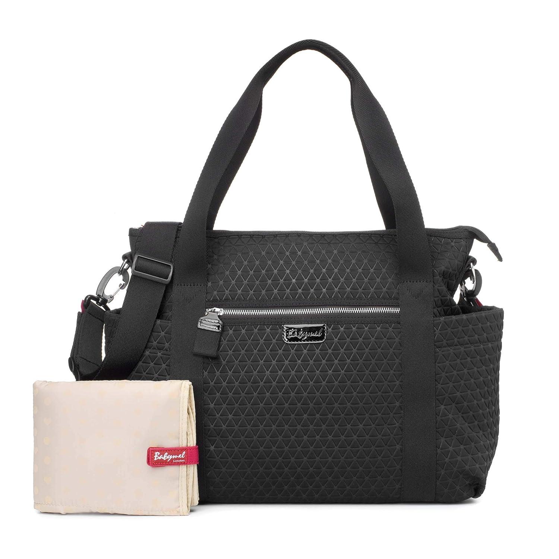 Babymel Cara Ultra Lite Scuba Emboss Baby Changing Bag Black
