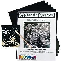 INOVART skratch N 'Sketch Cero Papel de lámina Plateada