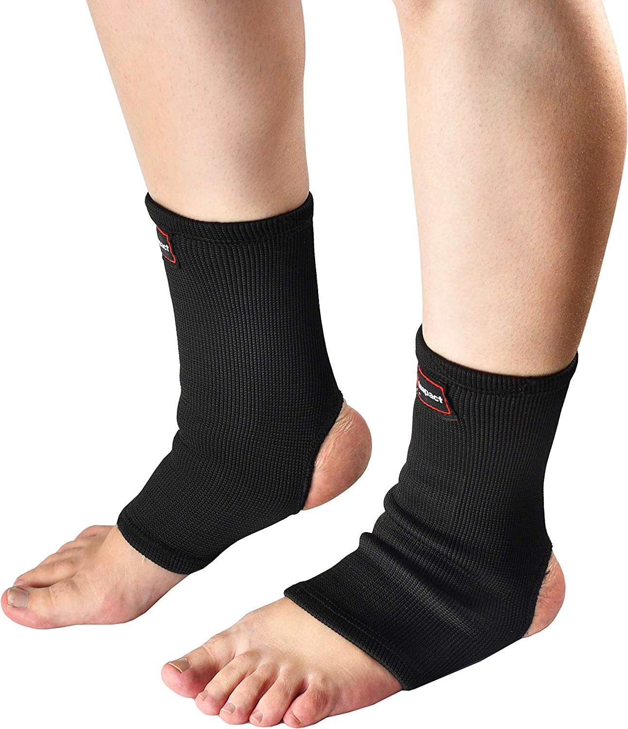 Pro Impact Muay Thai MMA Ankle Support Wraps - Breathable Ankle Guard Protection for Combat Sports - Ideal Gym & Workout Use – 1 Pair : Sports & Outdoors