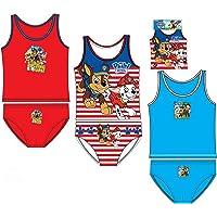 Pack de 3 Conjuntos niño (Camisetas y Slips) 3 Diferentes Modelos diseño Patrulla Canina (Paw Patrol) (Nickelodeon) 100…