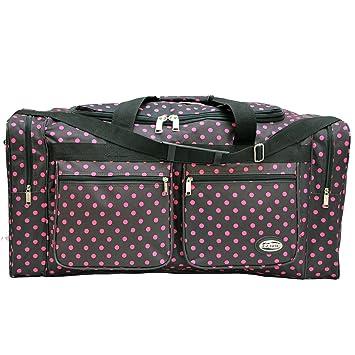 quot E-Z Tote quot  Polka Dots Duffle Bag Gym Bag Travel Bag Size 308d37d113978