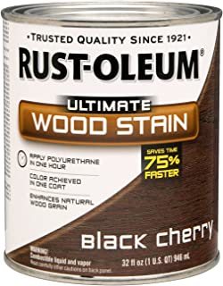 Rust Oleum 260152 Ultimate Wood Stain, Quart, Black Cherry