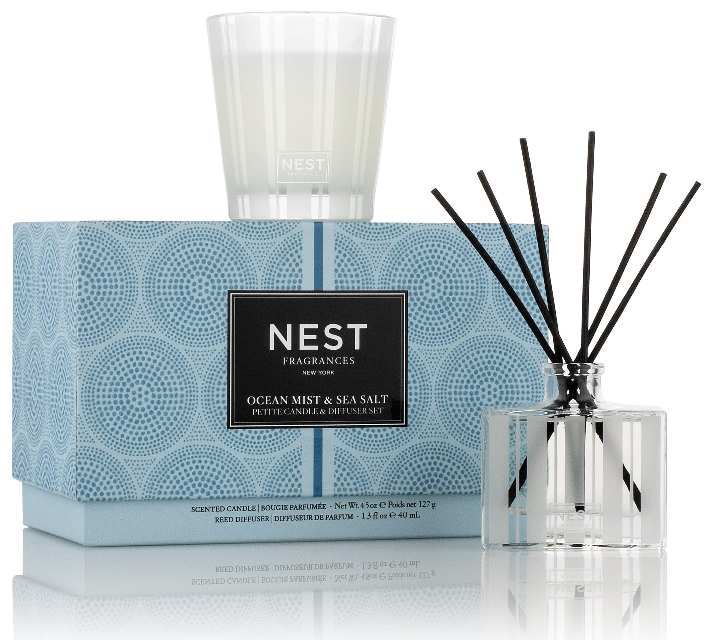 NEST Fragrances Ocean Mist & Sea Salt Petite Candle & Reed Diffuser Set by NEST Fragrances (Image #2)