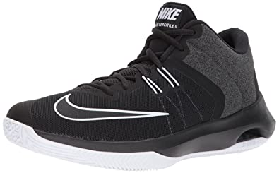 NIKE Mens Air Versitile II Basketball Shoe       Black White       100 Regular US