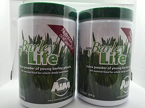 AIM BarleyLife - Family Size 12.7 oz Barley Grass Powder 2
