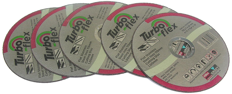Hilka TFSS11505 115mm Turbo-Flex Stainless Steel Cutting Disc
