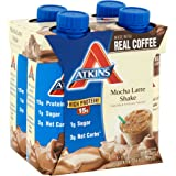 Atkins Ready To Drink Shake, Mocha Latte, 11 Ounce (Pack of 12)