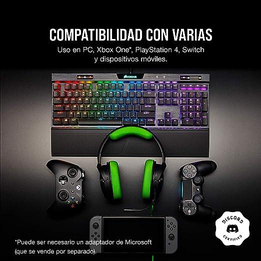 Corsair HS35 - Auriculares Stereo para Juegos (Membrana Neodimio de 50 mm, Micrófono Unidireccional Extraíble, Estructura Ligera, Compatible con Xbox ...