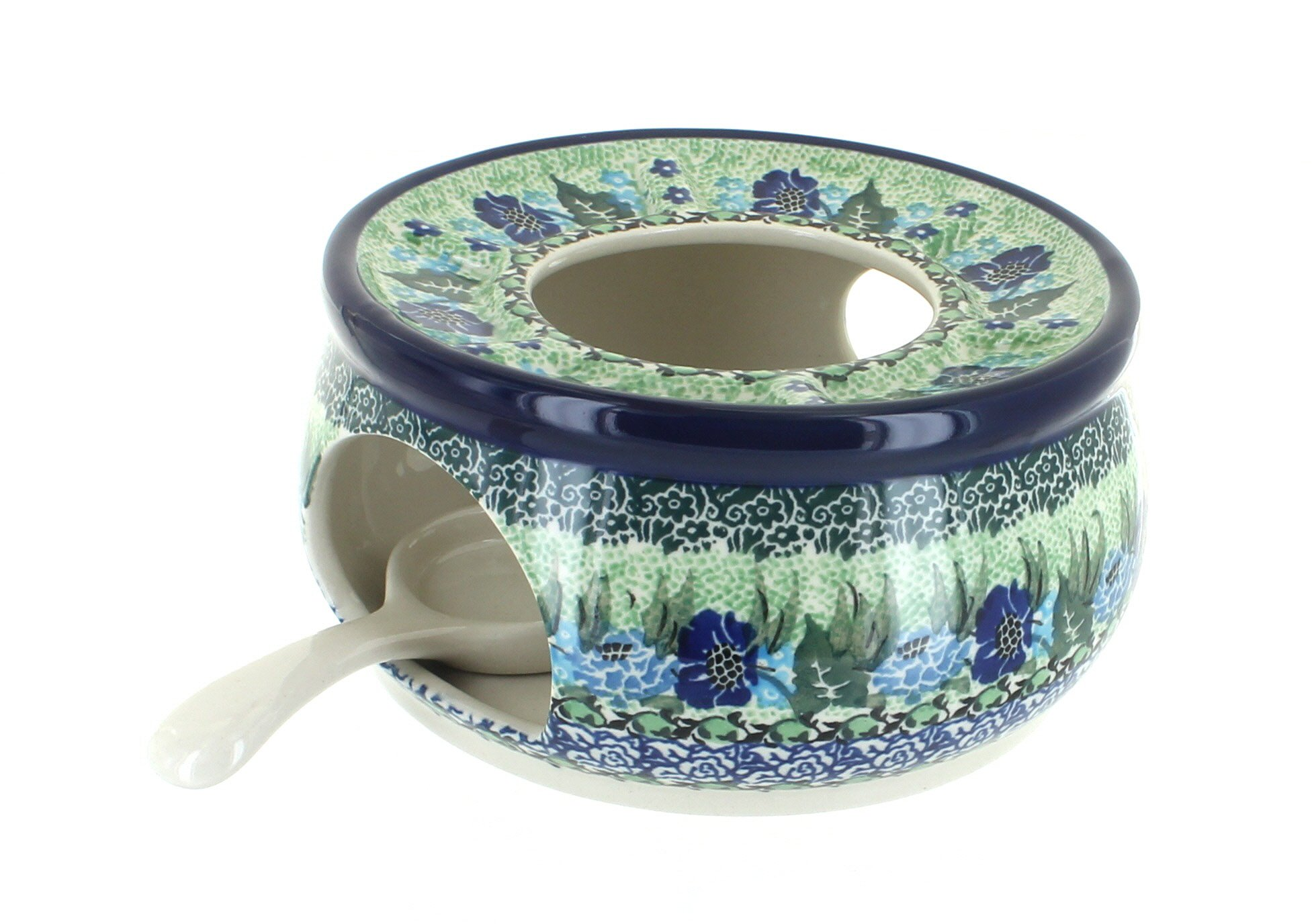 Blue Rose Polish Pottery Sapphire Fields Teapot Warmer