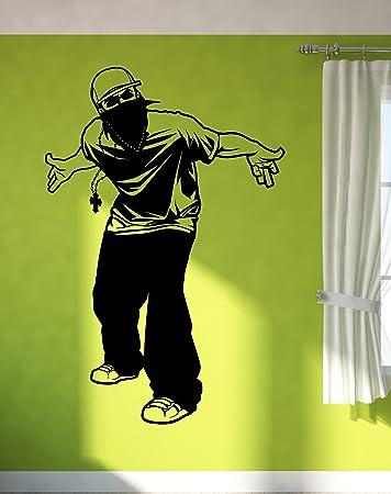 Amazon.com: Wall Stickers Vinyl Decal Street Hip-Hop Rap Gangster ...