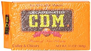 CDM Coffee and Chicory,Decaf, 13-Ounce Brick