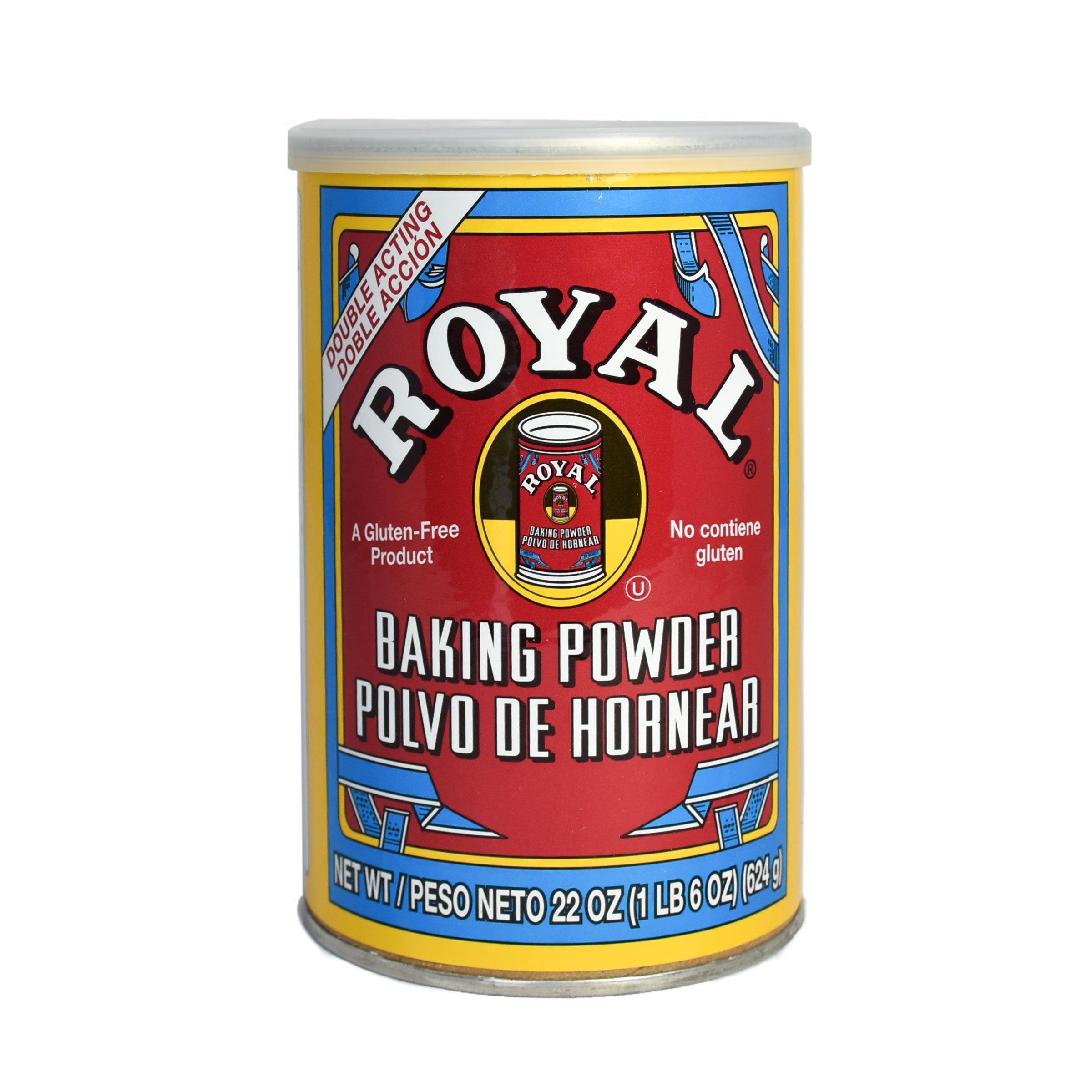 Royal Baking Powder, Gluten Free, Vegan, Vegetarian, Double Acting Baking Powder in a Resealable Can with Easy Measure Lid, Kosher, Halal