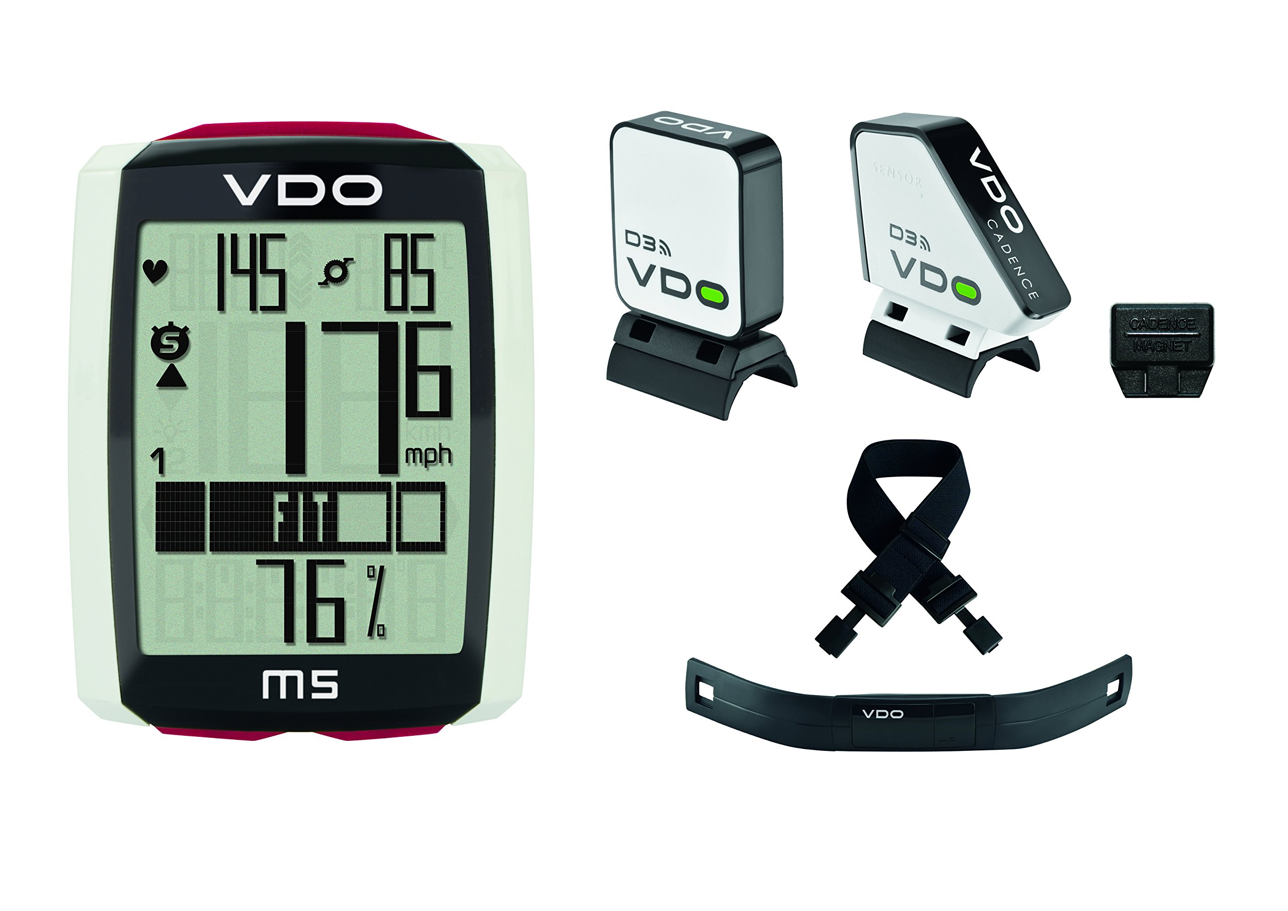 VDO M5 - Bundle - Digital Wireless Cycling Computer with Heart Rate and Cadence