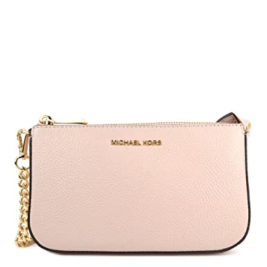 2780d0e9830e50 MICHAEL by Michael Kors Jet Set Soft Pink Medium Leather Chain Wallet one  size Soft Pink: Amazon.co.uk: Clothing