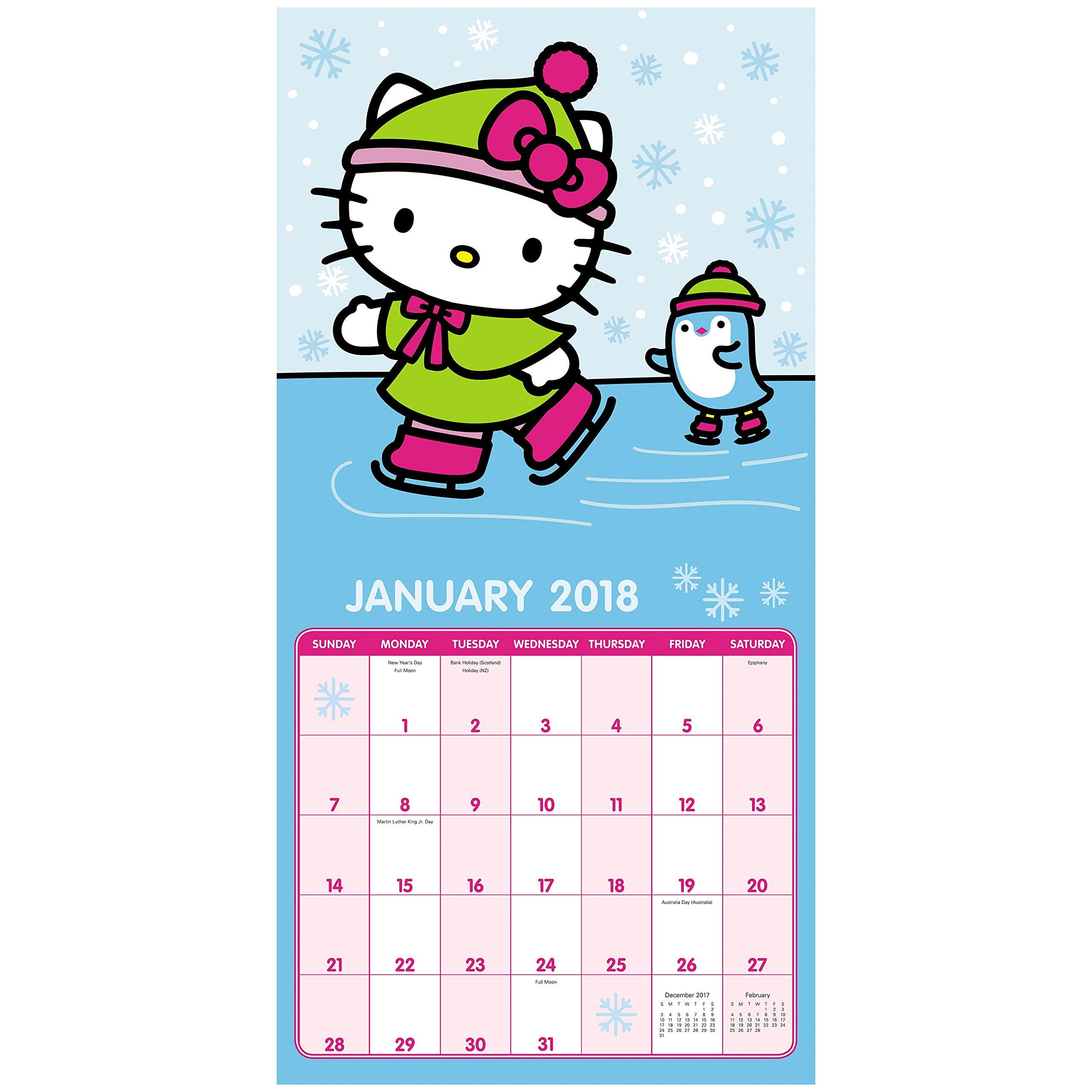 hello kitty naptár 2018 Hello Kitty Wall Calendar (Day Dream): Day Dream  hello kitty naptár
