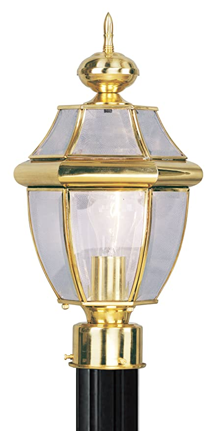 Amazon livex lighting 2153 02 outdoor post with clear beveled livex lighting 2153 02 outdoor post with clear beveled glass shades polished brass workwithnaturefo