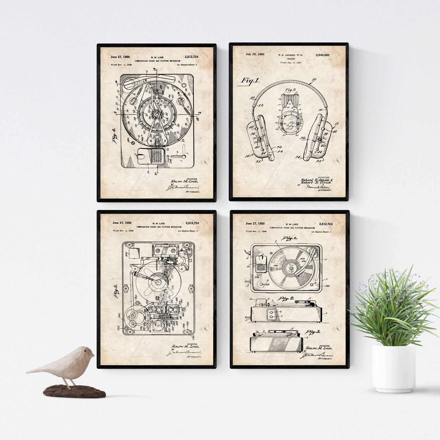 Amazon.com: Nacnic Vintage - Pack of 4 Sheets with ...