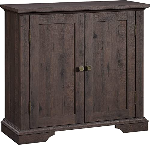 Sauder New Grange Accent Storage Cabinet, Coffee Oak finish
