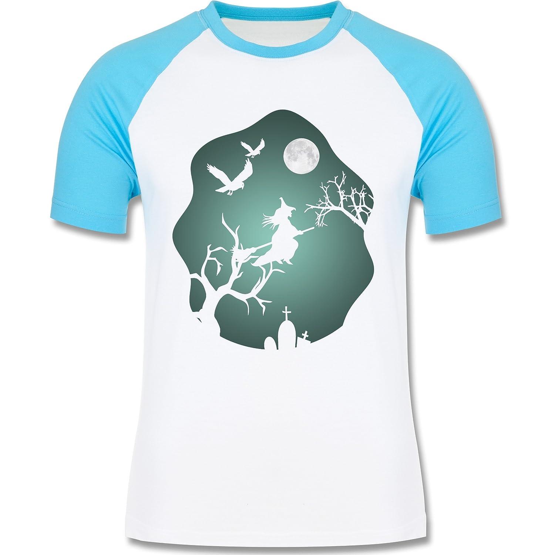 Shirtracer Halloween - Hexe Mond Grusel Grün - Herren Baseball Shirt:  Shirtracer: Amazon.de: Bekleidung