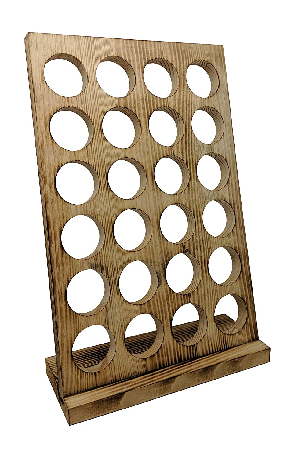 Gianna's Home Rustic Farmhouse Country Distressed Wood Coffee Pod Holder For K-Cups, 24 Capacity (Torched Wood)