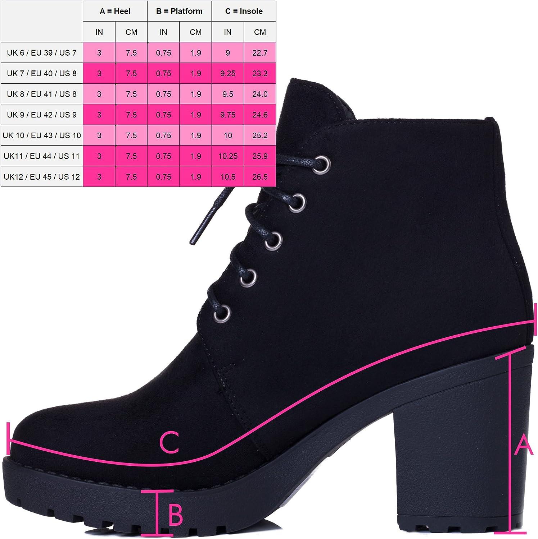 Lace Up Chunky Block Heel Platform