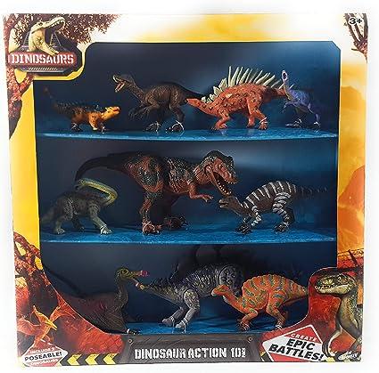 Kid Galaxy Dinosaurio Action 10 Pack de batallas épicas (Stegosaurus/T-Rex posible): Amazon.es: Juguetes y juegos