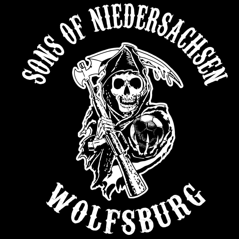 World of Football T-Shirt Wolfsburg Sons of Niedersachsen schwarz