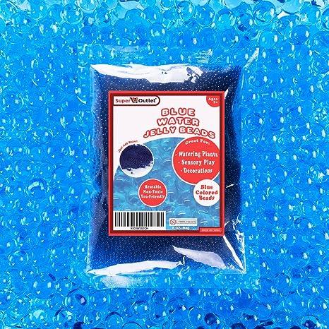 Amazon.com: 1/2 libra Bolsa de agua azul abalorio perlas de ...