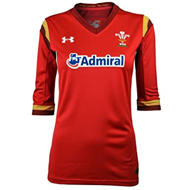 8e9347d81dc Under Armour Wales WRU 2016/17 Home Ladies S/S Rugby Shirt - Red ...